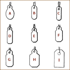 "Blank Jewelry Tags| Style| H - 1/2"" x 15/16"""