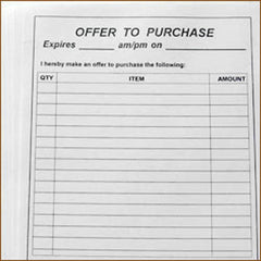 Offer To Purchase Form