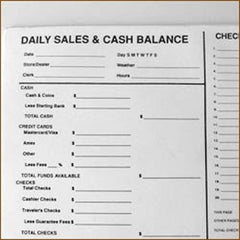 Daily Sales & Balance Form