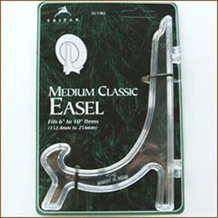 "Clear Easel Displays| Size/Qty| Qty 1 - 4-1/2"" Easel - $2.50"