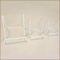 "White Plate Stands| Size/Qty| 4"" x 3.5"" Qty 1"