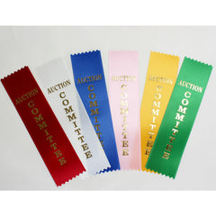 Auction Committee Flat Ribbons - Package of 20 Ribbons