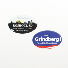 "2-3/4"" X 1-3/4"" Oval #7 Promotional Button"