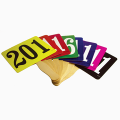 Extra Bold Colored Bid Paddles, Stock (100/pack)