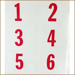 Jumbo Number Labels, 3 x 4 (250/pack)