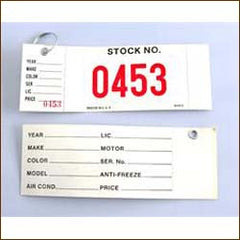 Key Tag - Window Sticker Combo (100/Pack)