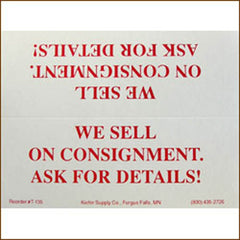 "Case Cards ""We Sell on Consignment"" (20/Pack)"