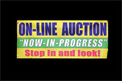 "3' x 7' ""On-Line Auction"" Banner"