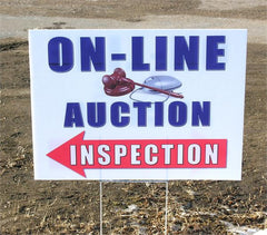 """On-Line Auction Inspection"" Coroplast Signs (5/pack)"