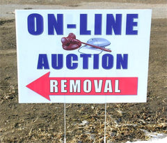 "On-Line Auction ""Removal"" Corriplast Signs, 2 Sided (5 Pack)"