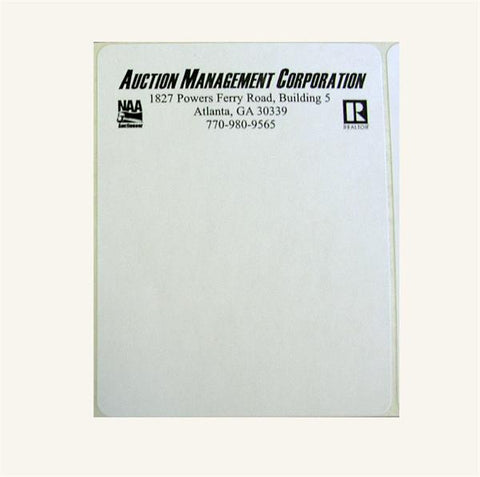 "Custom 4"" x 5"" White Label (400/pack)"