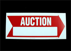 Corrugated Plastic Signs - Auction (5/pack)