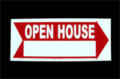 Corrugated Plastic Signs, Open House (5/pack)