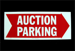 Corrugated Plastic Signs, Auction Parking (5/pack)