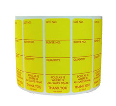Style 2 Lotting Label - Super Stick (1000/roll)