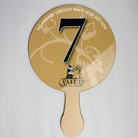 Full Color, Numbered PRO Bid Paddle (1 or 2 side)