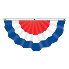Large RWB Pleated Nylon Fan Flag (2 options)