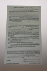 Personal Property Legal Length Contract (50/pack) 2 or 3 part