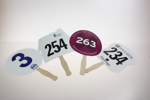 Custom Shape Paddle, Single Color, Numbered (100)