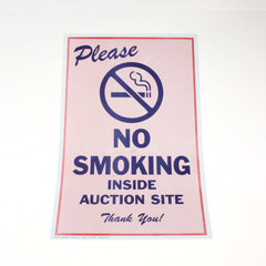 No Smoking 11 x 17 Laminated Sign