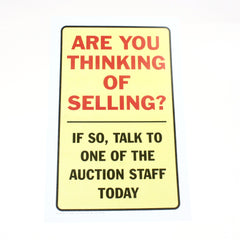 Are You Thinking of Selling 11 x 17 Laminated Sign