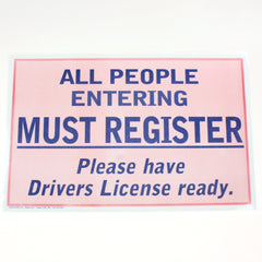All People Must Register 11 x 17 Laminated Sign