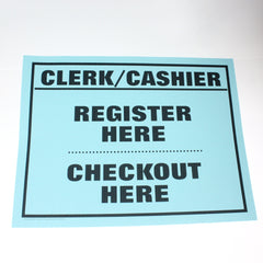 Clerk/Cashier 18 x 24 Laminated Sign