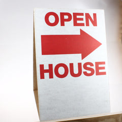 """Open House"" Cardboard Tent Street Signs (5/pack)"
