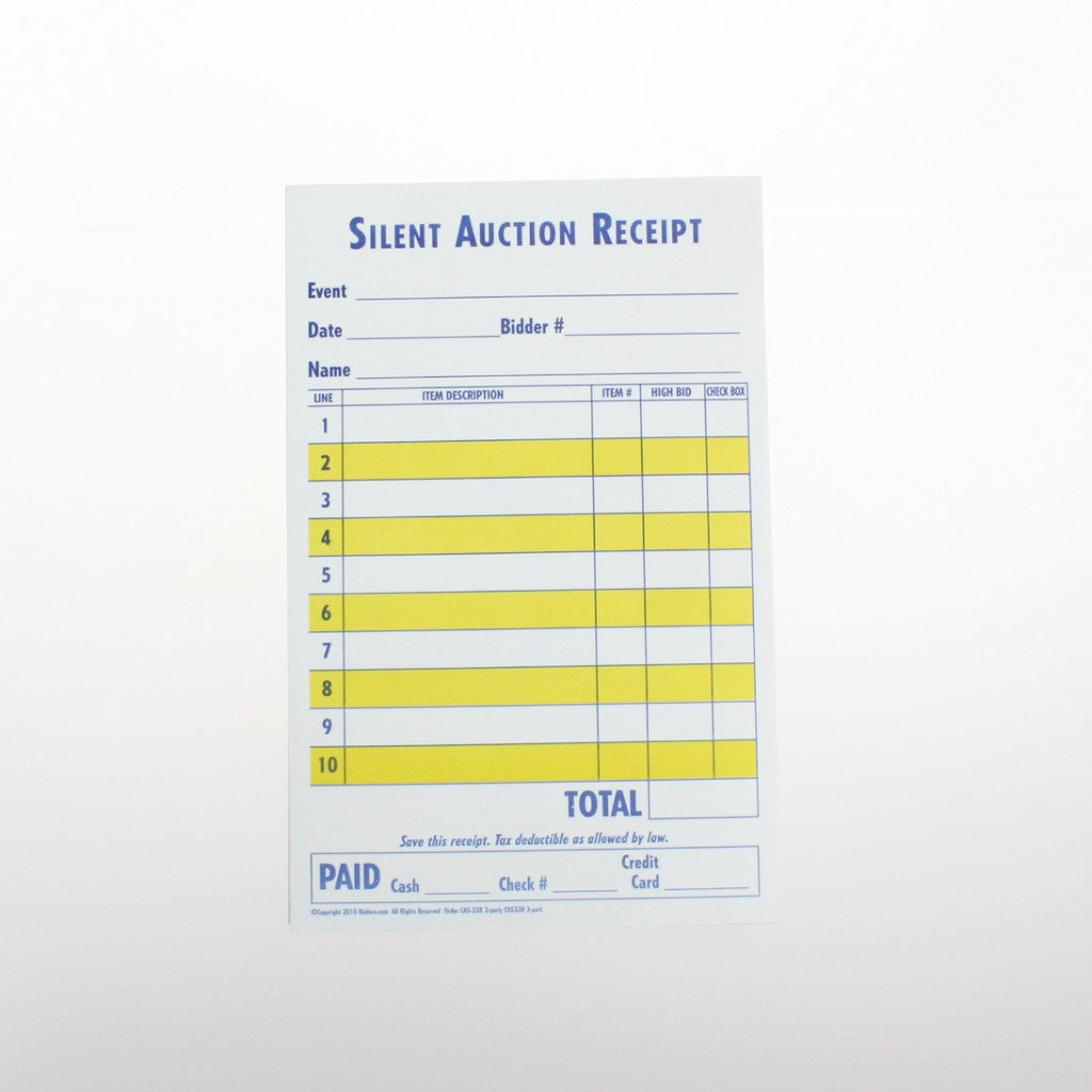 how to organize a silent auction