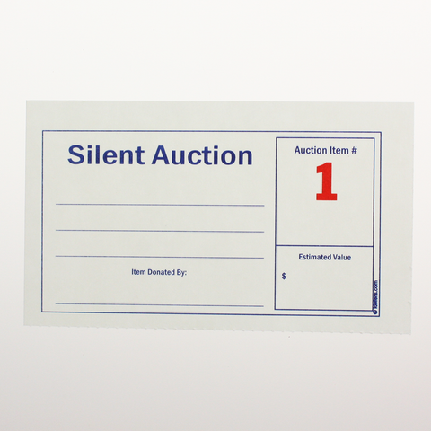 Silent Auction Numbered Display Cards (250/pack)