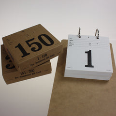 NEW Pre-Numbered Bid Cards w/ hole drilled stub (150/pack)