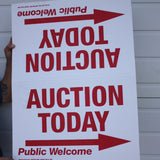 Fold-Over Auction Signs, cardboard (Pack of 10)