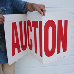 3 Panel Cardboard Auction Signs<br>(Pack of 10)