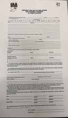 Indiana 2-part PP & RE Contract (50 sets) Form #1