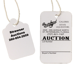 Custom Small Pricing Tags (1000) strung