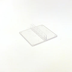 Clear Plastic Showcard Stand, Center (Pack of 10)