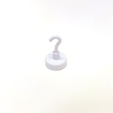 "1-1/2"" White Magnetic Hook"