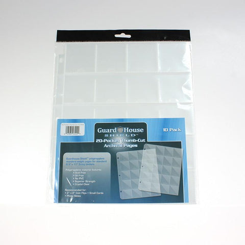 20 Pocket Thumb Cut Archival Pages (Pack of 10)