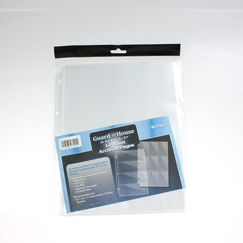 1 Pocket Archival Pages (Pack of 10)
