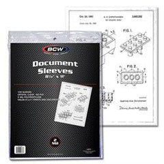 "8-1/2"" x 11-1/4"" Document Sleeves (Pack of 100)"