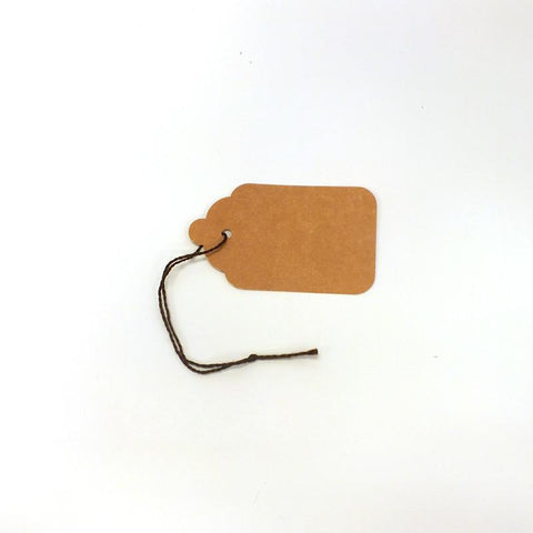 Strung Kraft Tags (Box of 400) 2 Sizes