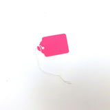 #5 Blank Fluorescent Strung Tags (Box of 400) 4 Colors