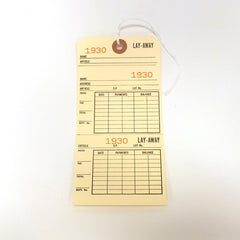 3 Part Lay-A-Way Tags (Pack of 100) 2 Sizes
