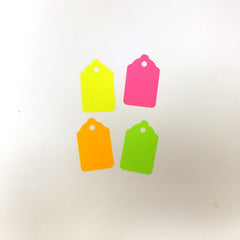 #5 Blank Fluorescent Unstrung Tags (Box of 100) 4 Colors