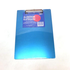 "9"" x 12-1/2"" Blue Aluminum Clipboard"