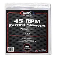 45 RPM Record Polylined Paper Sleeves (Pack of 50)