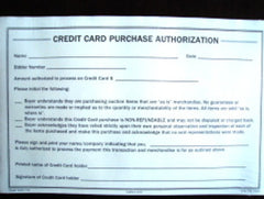 Credit Card Purchase Authorization, 2 part (100/pack)