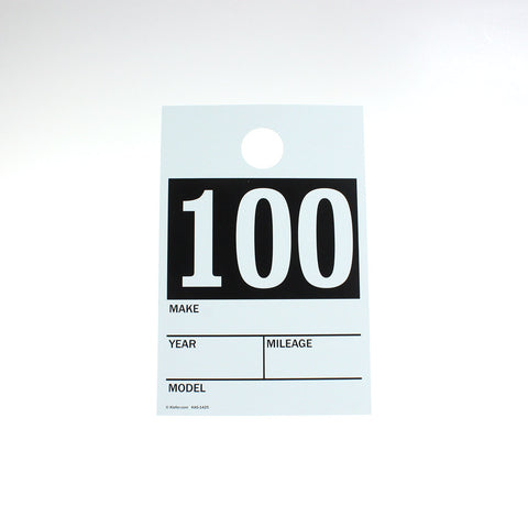 Pre-Numbered Vehicle Mirror Cards (100/pack)
