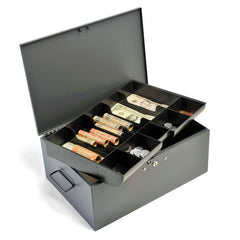 Jumbo Cash Box, 10 compartment w/ extra storage