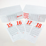 Pre-Numbered Stock Bid Cards w/ Registration Stub (500/pack) Red #/Black Ink